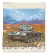 1941 W W I I Patton Tank Fleece Blanket