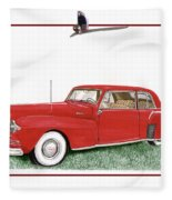 1942 Lincoln Continental Coupe Fleece Blanket