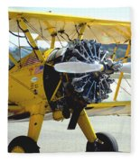 1943 Boeing Super Stearman 2 Fleece Blanket