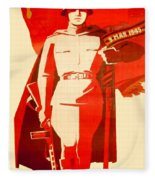 1946 - Soviet Red Army Victory Poster - Color Fleece Blanket
