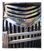 1946 Chevrolet Truck Chrome Grill Fleece Blanket
