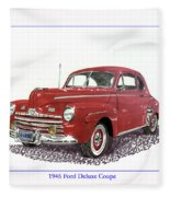 Ford Special Deluxe Coup E  From 1946  Fleece Blanket