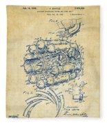 1946 Jet Aircraft Propulsion Patent Artwork - Vintage Fleece Blanket