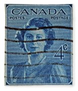 1947 Canada Four Cents Stamp Fleece Blanket