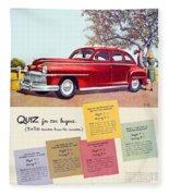1947 - Desoto Automobile Advertisement - Color Fleece Blanket