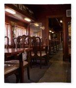 1947 Pullman Railroad Car Dining Room Fleece Blanket