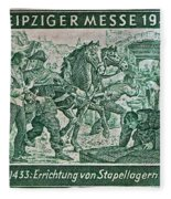 1948 Allied Occupation German Stamp Fleece Blanket