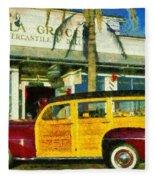 1948 Ford Woody Station Wagon Fleece Blanket