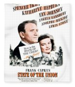 1948 - State Of The Union Motion Picture Poster - Spencer Tracy - Katherine Hepburn - Mgm - Color Fleece Blanket