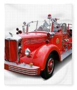 1949 Mack Fire Truck Fleece Blanket