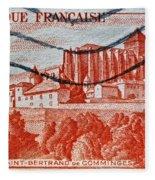 1949 Republique Francaise Stamp Fleece Blanket