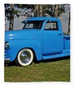 1950 Baby Blue Chevrolet Pu Fleece Blanket