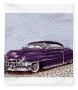 Chopped 1950 Cadillac Coupe De Ville Fleece Blanket