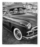 1950 Chevrolet Sedan Deluxe Painted Bw   Fleece Blanket