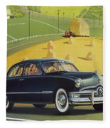 1950 Custom Ford - Square Format Image Picture Fleece Blanket