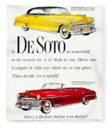 1950 - De Soto Sportsman Convertible - Advertisement - Color Fleece Blanket