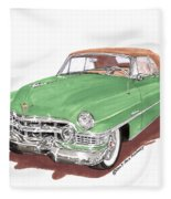 1951 Cadillac Series 62 Convertible Fleece Blanket