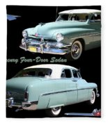 1951 Mercury Come And Going Fleece Blanket