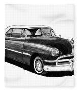 1951 Pontiac Hard Top Fleece Blanket