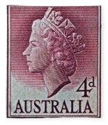 1952-1958 Australia Queen Elizabeth II Stamp Fleece Blanket