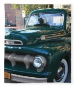 1952  Ford Pick Up Truck Front And Side View Fleece Blanket