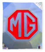 1952 Mg Roadster Emblem Fleece Blanket