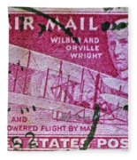 1952 Wright Brothers Stamp Fleece Blanket