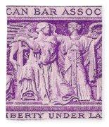 1953 American Bar Association Postage Stamp Fleece Blanket