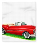 1953 Buick Skylark Convertible Fleece Blanket