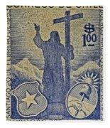 1953 Chile Stamp Fleece Blanket