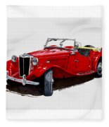 1953 M G T D  Fleece Blanket