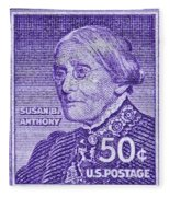 1954-1961 Susan B. Anthony Stamp Fleece Blanket