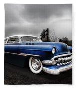 1954 Blue Buick Fleece Blanket