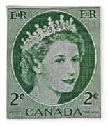 1954 Canada Stamp Fleece Blanket