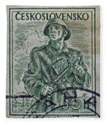 1954 Czechoslovakian Soldier Stamp Fleece Blanket