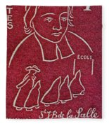 1954 De La Salle Monaco Stamp Fleece Blanket