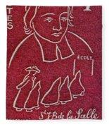 1954 De La Salle Monaco Stamp Fleece Blanket