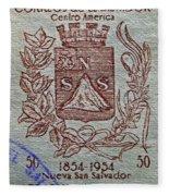 1954 El Salvador Stamp Fleece Blanket