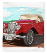 1954 M G T F  Fleece Blanket