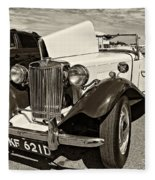 1954 Mg Td Sepia Fleece Blanket