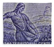 1954 Nebraska Territorial Stamp Fleece Blanket