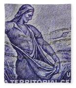 1954 Nebraska Territorial Stamp Fleece Blanket