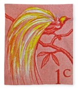 1954 Netherlands New Guinea Paradise Bird Stamp Fleece Blanket