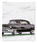 1955 Cadillac Series 62 Convertible Fleece Blanket