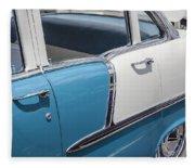 1955 Chevrolet 4 Door Fleece Blanket
