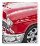 1955 Chevy Cherry Red Fleece Blanket