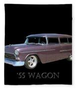 1955 Chevy Handyman Wagon Fleece Blanket