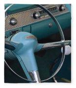 1955 Chevy Nomad Steering Wheel Fleece Blanket
