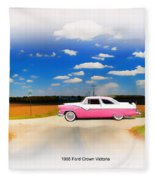 1955 Ford Crown Victoria Sweet Fleece Blanket