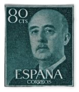 1955 General Franco Spanish Stamp Fleece Blanket